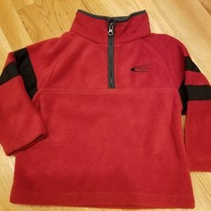 EUC- Red and Black Fleece Pullover